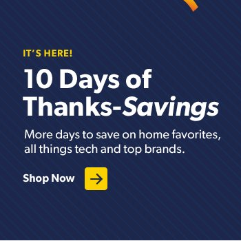 10 Days of Thanks-Savings (Black Friday Sale) at Sam's Club